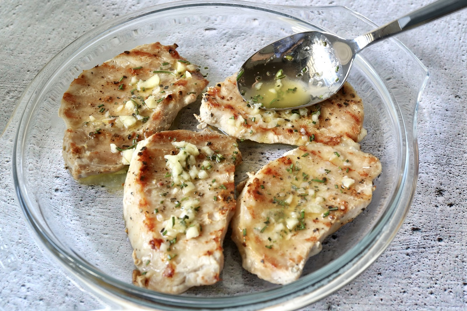 pork chops with mixture
