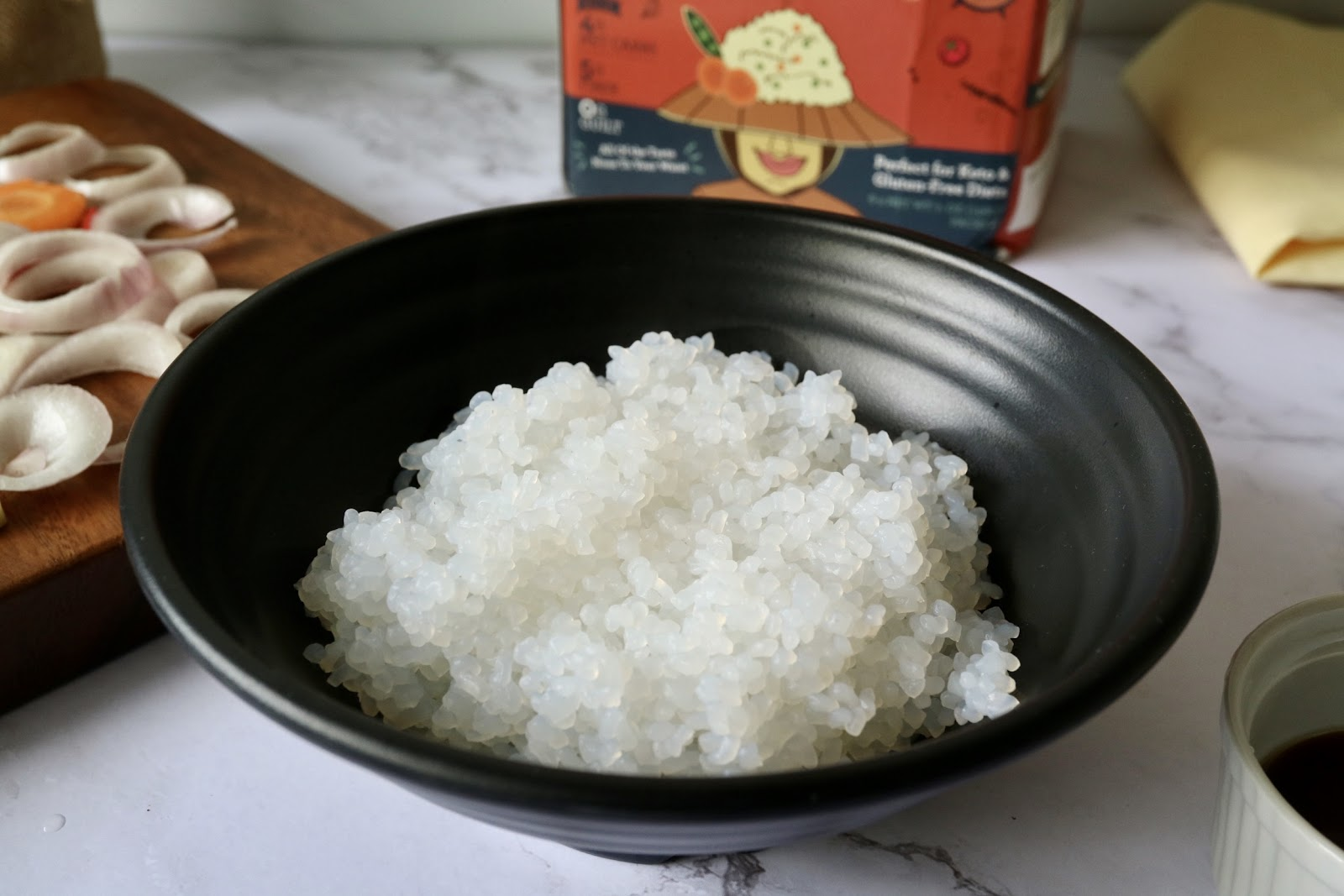 shirataki rice in a bowl